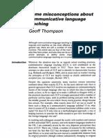 Misconceptions about communicative language teaching