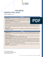 Approach to managing diabetic foot ulcers