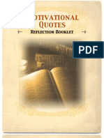 Motivational Quotes Reflection Booklet
