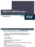 KRA for HR Executive - ppt