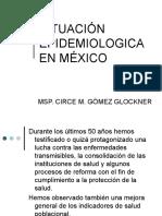 SITUACIÓN EPIDEMIOLOGICA EN MÉXICO