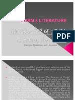 FORM 3 LITERATURE