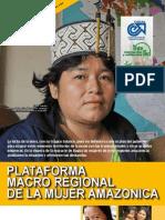 Encarte Plataforma macro regional mujer amazonica