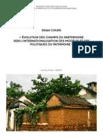ÉVOLUTION DES CHAMPS DU PARTRIMOINE - TRAN Duc Thanh -DPEA20