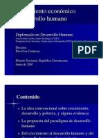 Crecimiento Economico y Desarrollo Humano