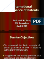 International Patent Law and Practice and Patent Dispute Resolution- Prof. Anil B. Suraj