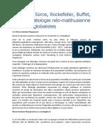 Pierre-Antoine Plaquevent-L'idéologie néo-malthusienne des élites globalistes-2021
