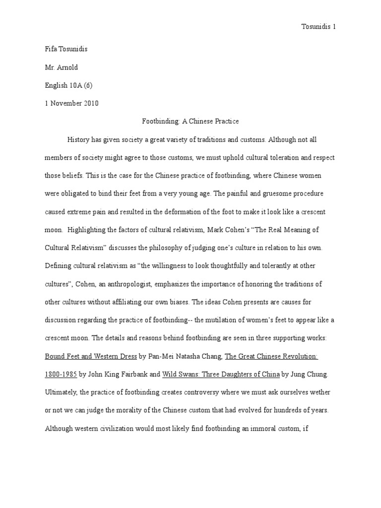 footbinding a chinese practic essay draft pdf traditions footbinding a chinese practic essay draft 1 pdf traditions morality