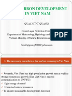 Quach Tat Quang. Viet Nam. Low Carbon Development in Viet Nam