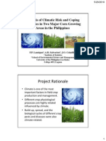 Analysis of climatic risk and coping strategies in corn production systems in the Philippines