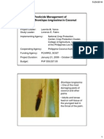 Pesticide management of Brontispa longissima in coconut