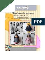 Casaco para boneca (em francês)