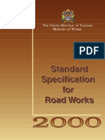 Standard specifications for road works in Tanzania 2000
