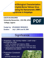 Molecular and biological characterization of Cucurbit Aphid-Borne Yellows Virus (CABYV) causing the Namamarako (NMK) syndrome in Ampalaya