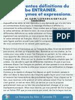 Le français by Alex - Épisode 73