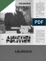 Amintiri Politice Vol II