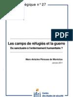 Les camps de réfugiés et la guerre. Du sanctuaire à l'enfermement humanitaire?