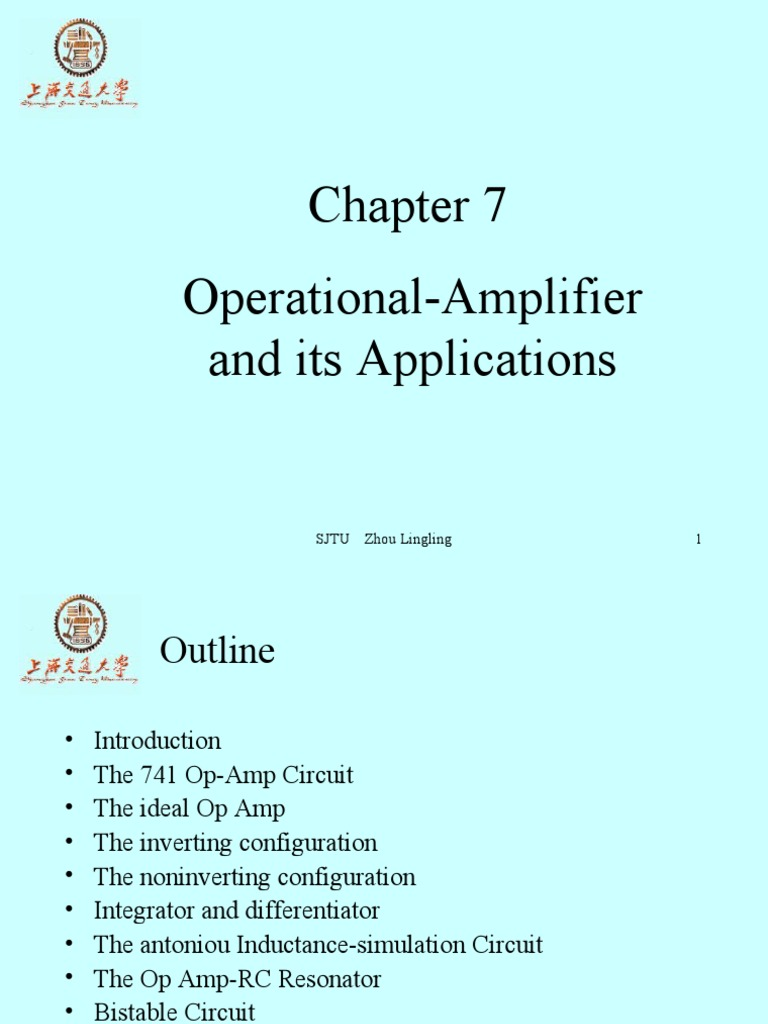 Chapter 7 Operational Amplifierit Version Amplifier About An Ideal Opamp And The Inverting Circuit