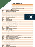 Linux Command List
