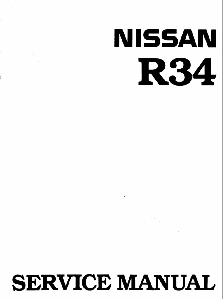 Nissan Skyline R34 Workshop Manual English Fuel