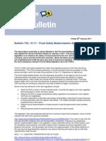 Bulletin 738 - 2011 - 01 - Food Safety Modernization Act - USA