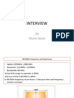 3G interview Questions in brief