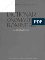 Dicţionar onomastic romînesc