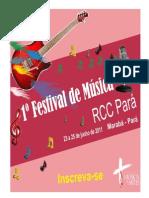 Regulamento do Festival Estadual