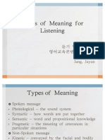 Types of Meaning for Listening