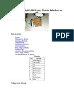 5 Digit LED Display Module data sheet May 2002