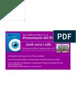 Targetó de presentació del llibre Amb cara i Ulls a Vilanova del Vallès