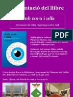 Cartell de presentació del llibre Amb cara i Ulls a Vilanova del Vallès