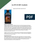 Amsoil Signature Series 0W-30 pdf