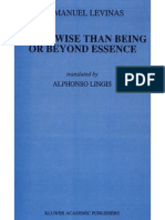 Emmanuel Levinas - Otherwise than Being