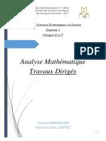 Pr. Hicham Baddi 9-11-2020 Gr E F Travaux Dirigés Analyse Mathématique 1