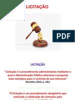 Direito Administrativo II - Slides - Licitação e Contratos Administrativos