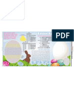 Easter placemat with puzzles and games