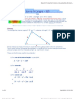 solving triangle - sss