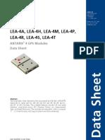 LEA-4x_Data_Sheet(GPS.G4-MS4-06143)