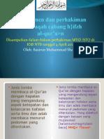 Manajemen dan perhakiman Musabaqah cabang hifzh