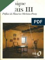 Les Essais - Montaigne Tome III