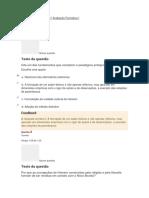 ANTROPOLOGIA - Avaliação Formativa I