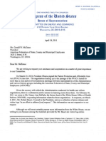 Congressional Letter to the American Federation of State, County, and Municipal Employees