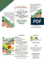 Folder Seminario de Educacao Indigena