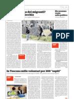 """In Toscana mille volontari per 300 """"ospiti"""""""