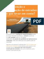Manutenção e construção de estradas
