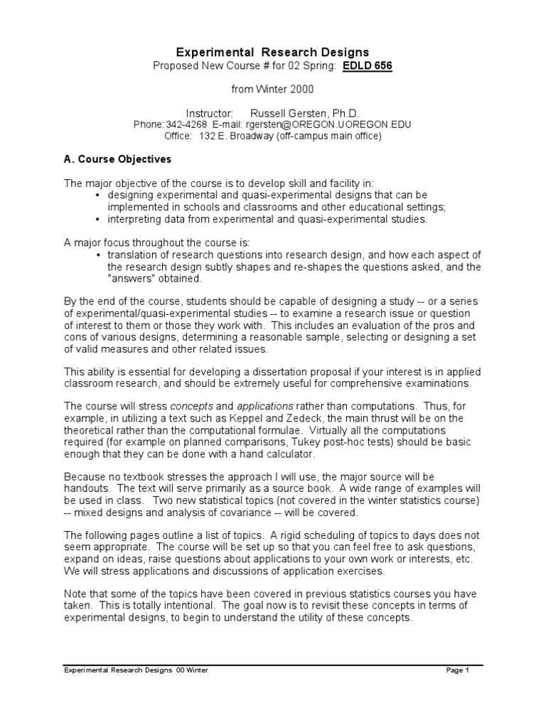 example of quasi experimental research paper