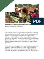 Bangladesh's Pogrom of Scheduled Tribes-Aronitethinking