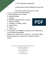 Algebra 2 CST Preparation 1