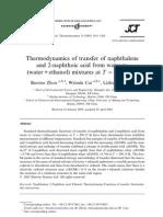 2naphthoic acid thermodynamics